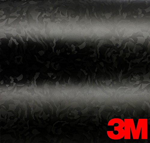 - 3M Black Shadow Camouflage Automotive Vinyl Featuring Air-Release Adhesive (3ft x 5ft)