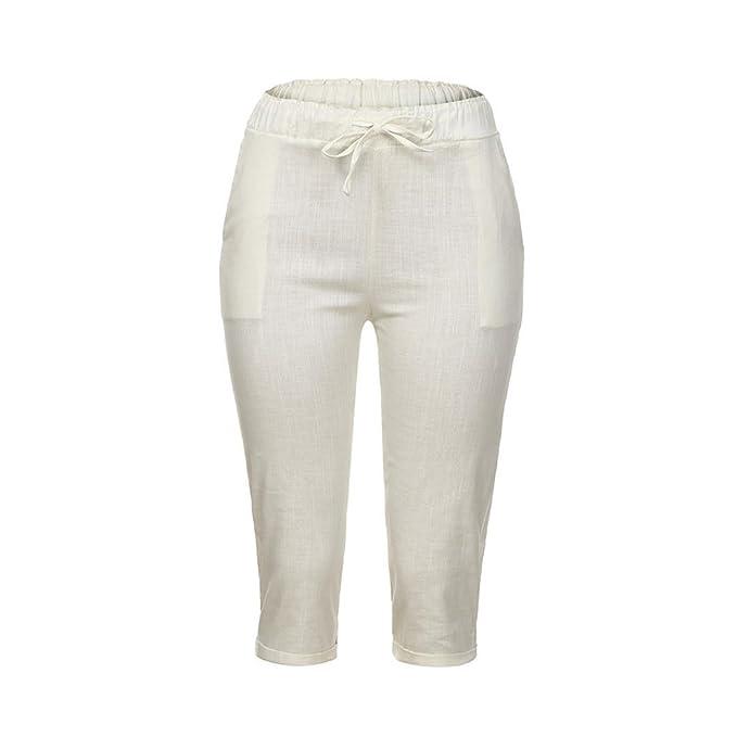3d07c577c0c4 UFACE Frauen lose Leinenhosen Plus Größe beiläufige Frauen Baumwolle Leinen  Hosen Elastische Taille Sommer dünne Dame