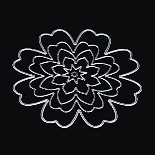 Flower Heart Metal Cutting Dies Stencils DIY Scrapbooking Album Paper Card Craft by Topunder -