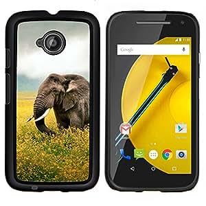 /Skull Market/ - Happy Elephant For Motorola Moto E 2nd Generation - Mano cubierta de la caja pintada de encargo de lujo -