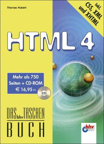 HTML 4, m. CD-ROM. Das bhv Taschenbuch