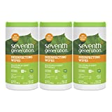 Seventh Generation Disinfecting Multi-Surface Wipes, 70-count Tubs (Pack of 3)