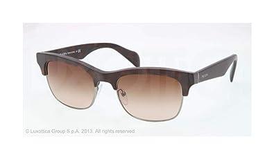 362ae178861c2 Image Unavailable. Image not available for. Colour  Prada Men s 11p Matte  Tortoise Frame Brown Gradient Lens Metal Plastic Sunglasses