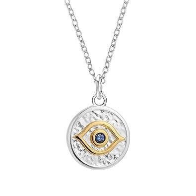 Amazon.com: Lujo 18 K oro mal de ojo Gargantilla Collar con ...