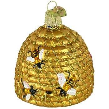 Amazon.com: Old World Christmas Avocado Glass Blown Ornament: Home ...
