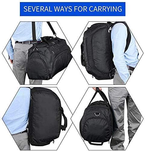 hopopower 3-Way Travel Duffel Backpack Large Luggage Gym Sac /à Dos Sac de Sport Sac /à Dos ext/érieur avec Compartiment /à Chaussures,40L