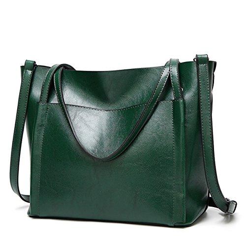 Cuadrado para Coolives Tote Bolso Bolsillo Cubo Mujer Grande Borgoña Verde v44qwO5pT