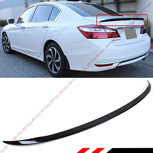 Cuztom Tuning Fits for 2013-2017 Honda Accord 4 Door Sedan Painted Black Sport Trunk Lid Spoiler - Honda Accord Deck