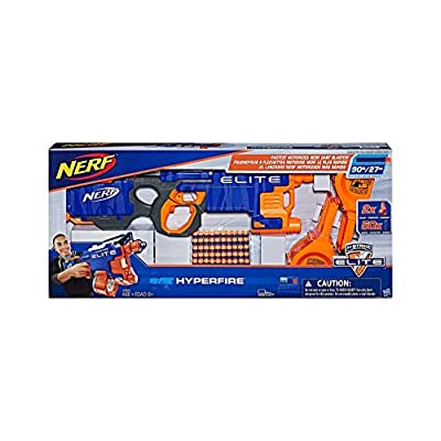 Nerf N-Strike Elite HyperFire Blaster (with Bonus Drums and 25 Extra Darts): Toys & Games