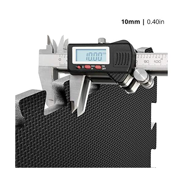 Tappeto da fitness a puzzle – set di 18 pezzi | superficie di protezione per pavimenti | materassino per palestra…