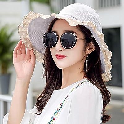 f0e6f6b0e5 LBY Sombrero De Sol Plegable De Verano Gafas De Sol De Protección UV Al  Aire Libre Salvaje Sun Hat Sombreros de Sol (Color : 3#, Tamaño : 56-58 *  10.5cm)