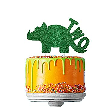 LissieLou Dinosaur 2nd Birthday Cake Topper