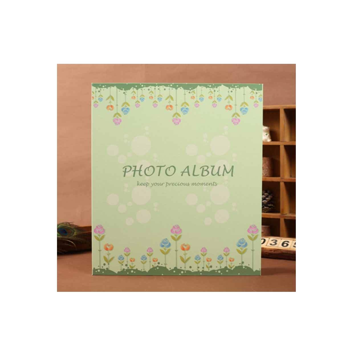 Kaiyitong Photo Album, Stylish and Cute Appearance Traditional Photo Album, Family Record Child Baby Growth Record Book, (can Accommodate 500 Photos, Green) Safety (Color : Green) by Kaiyitong