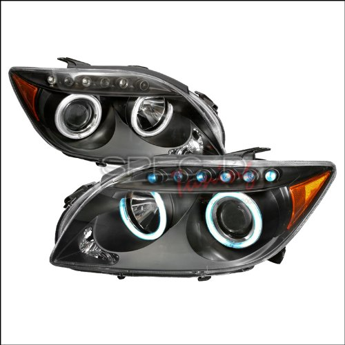 Spec-D Tuning Scion tC 2004 2005 2006 2007 2008 2009 2010 CCFL LED Halo Projector Headlights - Black
