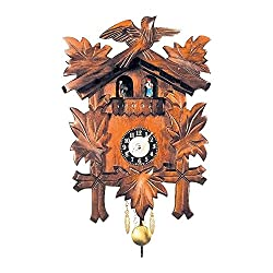 Alexander Taron Importer 930QPT Black Forest Carved Clock
