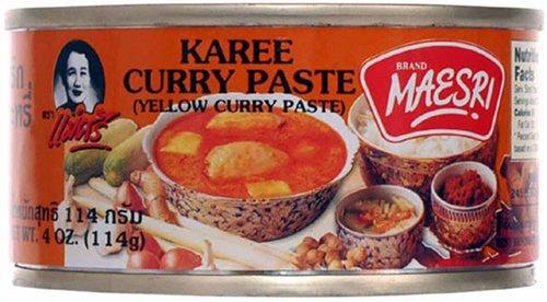 Yellow Curry (Kang Karee) Paste Thai Maesri 4 Oz.