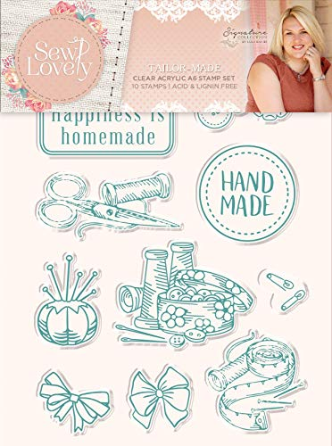 - Sara Signature Collection S-SL-ST-TAILM Sara Signature-Sew Lovely Tailor-Made Clear Acrylic Stamp, us:one Size,