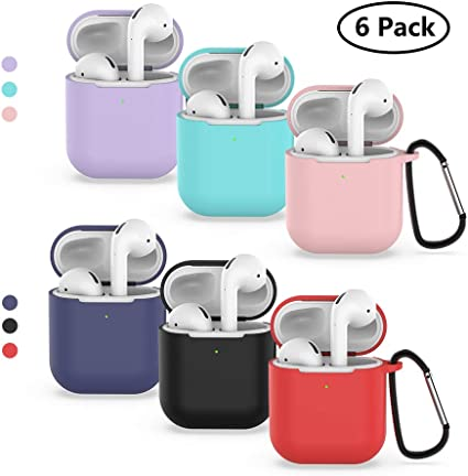 Amazon Com Airpods Case Silicone Case With Keychain Shockproof
