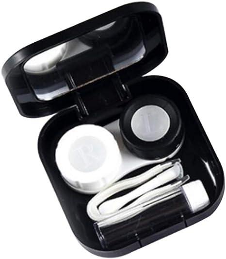 SUPVOX Estuche de Viaje para Lentes de Contacto Kit de Lentes de Contacto portátil Caja de Lentes de Contacto Soporte para Kit de Cuidado de Ojos Caja de Espejo: Amazon.es: Electrónica