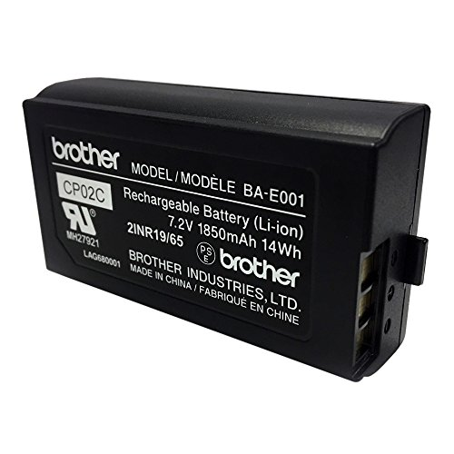 Brother BA-E001 Rechargeable Lithium Ion (Li-ion) Battery for P-touch Label Makers