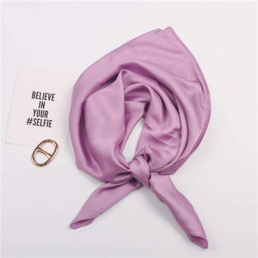 TYJYTM Bufandas cuadradas con Estampado sólido España Hijab Stain Bufanda de Seda Mujer Moda Dama Diadema Bufandas pequeñas Pañuelo, Púrpura, 70CMx70CM: Amazon.es: Deportes y aire libre