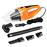 Handheld Car Vacuum Cleaner 120W, Udyr 12V 4000PA Suction Portable Mini Wet Dry Auto Vehicle Vacuum with 14.76ft(4.5m) Long Power Cord