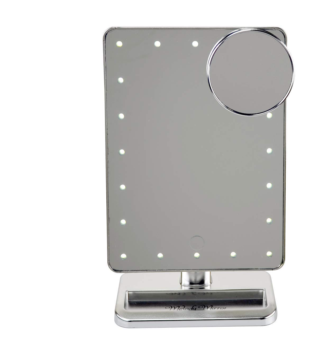 Melody Mirror – Lighted Vanity Mirror with Bluetooth Speaker Eletro Plated Silver