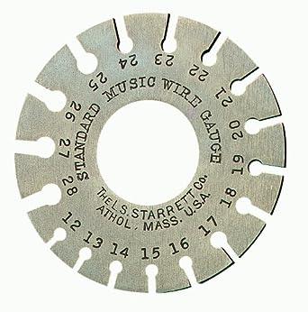 """Starrett 280 Piano Tuners' Gage, Hardened, Satin Finish, Numbers 12-28, 0.029 - 0.071"""" Diameter Range"""
