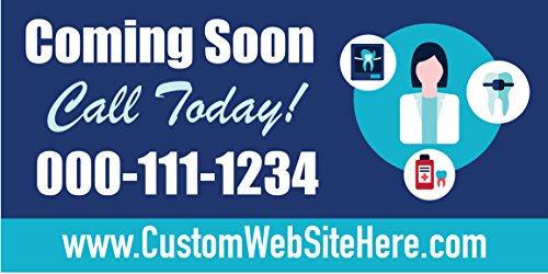 Custom Printed Dentist Banner - Coming Soon(10' x 5') by Reliable Banner Sign Supply & Printing