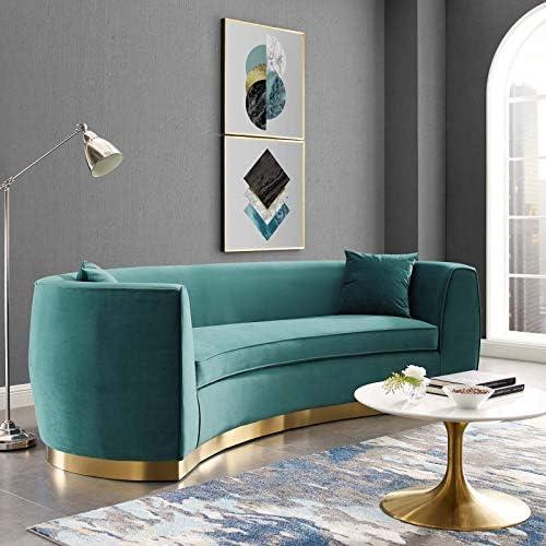 Modway Resolute Retro Modern Curved Back Upholstered Velvet