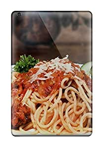 MMZ DIY PHONE CASEFashion Tpu Case For Ipad Mini/mini 2- Pasta And Meatballs Defender Case Cover