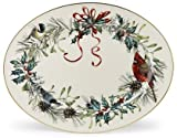 Lenox Winter Greetings 16'' Oval Platter,Ivory, Gold