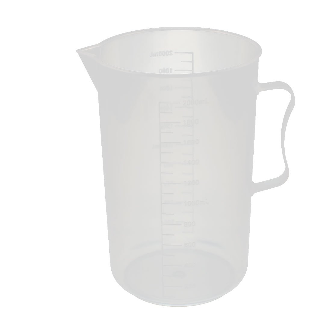 uxcell Kitchen Lab 2000mL Plastic Measurment Cup Jug Pour Spout Container