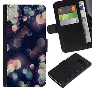 iBinBang / Flip Funda de Cuero Case Cover - Patrón del brillo del hexágono brillante rosa del arte - Samsung Galaxy S6 SM-G920