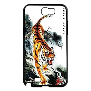 Custom King of Tiger animals picture in PC Hard Plastic phone Case Cover For Samsung Galaxy Note 2 Case TMAT353030