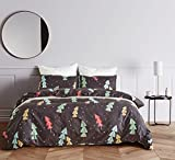 EIGOAL Duvet Cover Set Forest Printed Comforter Cover with Zipper Closure Kids Bedding Set Soft Lightweight Microfiber Twin/Queen/King Size