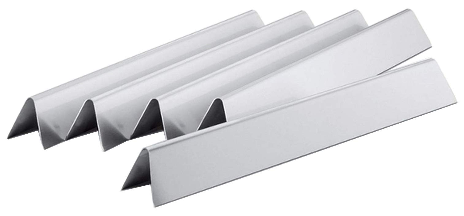 Hongso 24.5 inch Flavorizer Bars Replacement for Weber Genesis 300 Series E-310, E-320, S-310, S-320 (2007-2010), 5-Pack Stainless Steel Heat Deflectors, 7539 7540, 20 Gauge
