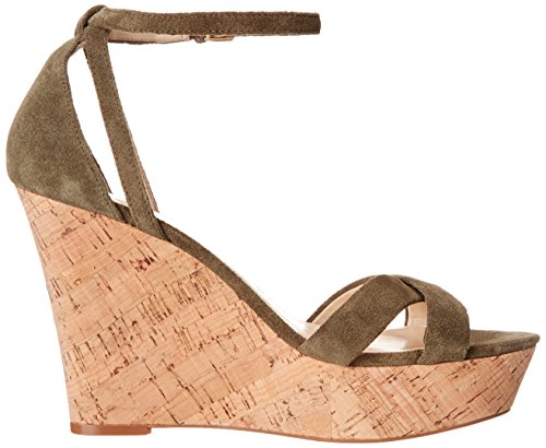 Nine West Joker ante de la cuña de la sandalia Dark Green