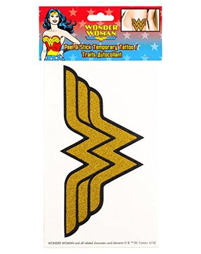 Wonder Woman Peel and Stick Temporary Arm Tattoo]()