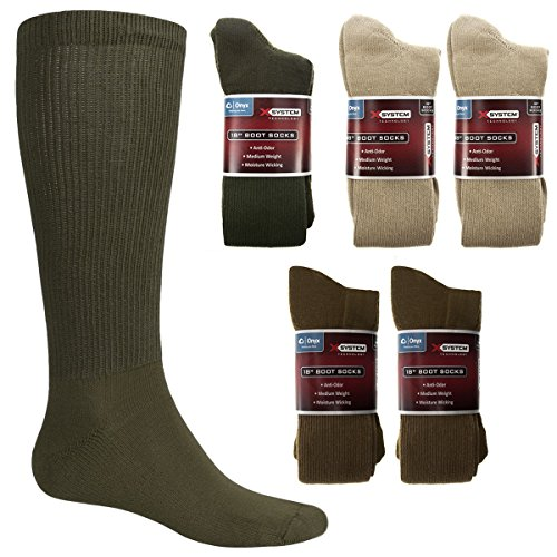 X System Socks Large Green Hunter