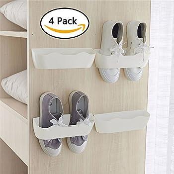 Amazoncom Yocice Wall Mounted Shoes Rack 4pcs With 12pcs Sticky