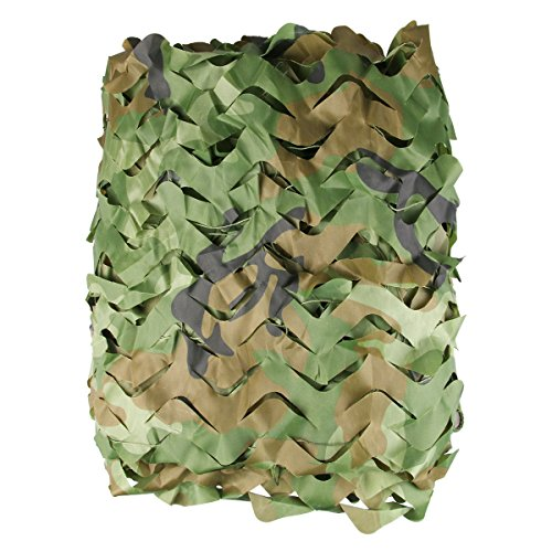 Camo Netting - Woodland Camo Net - Large and Lightweight Camouflage Mesh Netting - Perfect for Camping Shooting Hunting - Military Themed Party Decoration