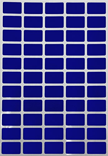 Price tag Removable Stickers 1inch x 0.625 inch Rectangular Labels in Color Blue (25.5mm x 16 mm) - 275 Pack by Royal ()