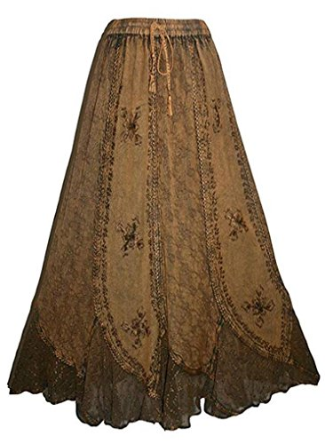 Agan Traders 711 SK Vintage Medieval Renaissance Skirt (L/XL, Old Gold) -