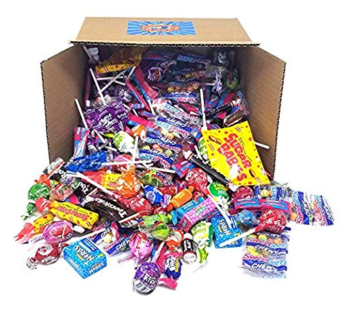 Assorted Candy Variety Party Mix Assortment - Jolly Ranchers Lollipops, Tootsie Rolls, Charms Pops, SweeTarts Fun Size, Sugar Daddy, Sugar Babies, Nerds Mini Box, Blow Pops - Bulk Pack Box, 5 lbs