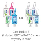 PURELL Advanced Hand Sanitizer Portable Bottles - 1 oz. Variety Pack Travel Sized Jelly Wrap Bottles (Case of 8) - 3909-09-ECSC