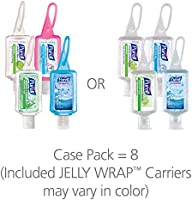 PURELL 3909-09-ECSC Advanced Hand Sanitizer Portable Bottles - 1 oz. Variety Pack Travel Sized Jelly Wrap Bottles (Case of 8)