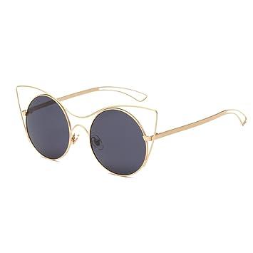 Mode Katze Auge Metall Farbe Sonnenbrille Brille Sonnenbrille , Goldener Rahmen Rosa