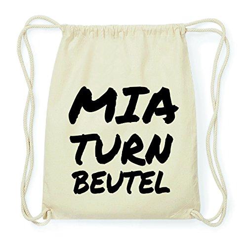 JOllify MIA Hipster Turnbeutel Tasche Rucksack aus Baumwolle - Farbe: natur Design: Turnbeutel