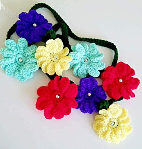 Amazon Com Crochet Flower Decorative Garland Handmade